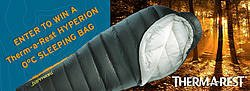 Back Country Skiing Canada Therm-a-Rest Hyperion 0°C Sleeping Bag Giveaway
