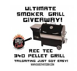 Dads That Cook REC TEC RT-340 SMOKER GRILL Giveaway