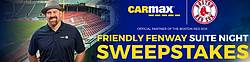 Red Sox Carmax Friendly Fenway Suite Night Sweepstakes