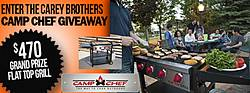 On the House Carey Brothers Camp Chef Sweepstakes