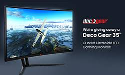 Beach Camera Deco Gear Curved Ultrawide LED Gaming Monitor Giveaway