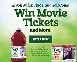 Juicy Juice Movie Tickets and More Instant Win Game