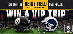 Pittsburgh Steelers 2019 L.A. Rams Trip Sweepstakes