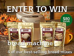 Bread Machine and Four Bread Mixes Giveaway