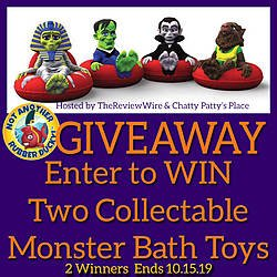 Review Wire: Classic Monsters Collector Bath Toys Giveaway