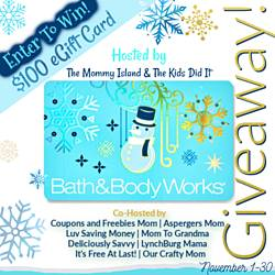 Ourcraftymom: $100 eGift Card to Bath & Body Works Giveaway
