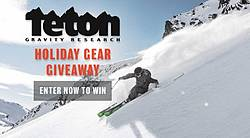 Teton Gravity Research 2019 Holiday Gear Giveaway