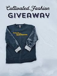 "Green Chic Life: ""Default to Kindness"" Sweatshirt Giveaway"