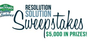 Old Orchard Resolution Solution Sweepstakes