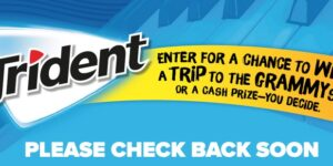 2020 Trident Chew Tunes Sweepstakes and Instant Win Game