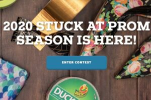 Duck Brand Duct Tape Stuck at Prom Scholarship Contest