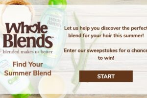 Garnier Whole Blends Find Your Blend Sweepstakes