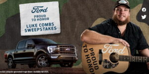 Ford Luke Combs Proud To Honor Sweepstakes