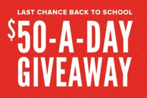 Hpb Last Chance Back To School $50-a-day Gift Card Giveaway
