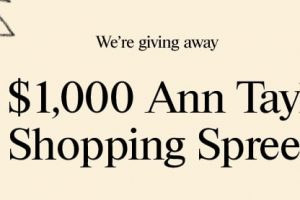 Ann Taylor $1,000 Shopping Spree Giveaway