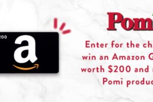 Pomi USA New Year Amazon Gift Card Sweepstakes